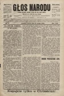 Głos Narodu : dziennik polityczny, założony w roku 1893 przez Józefa Rogosza (wydanie południowe). 1900, nr45