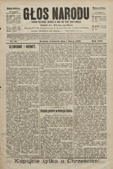 Głos Narodu : dziennik polityczny, założony w roku 1893 przez Józefa Rogosza (wydanie południowe). 1900, nr49