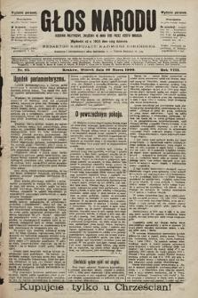 Głos Narodu : dziennik polityczny, założony w roku 1893 przez Józefa Rogosza (wydanie poranne). 1900, nr65