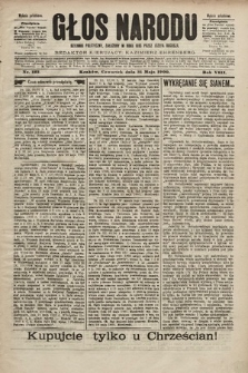Głos Narodu : dziennik polityczny, założony w roku 1893 przez Józefa Rogosza (wydanie południowe). 1900, nr123