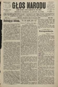 Głos Narodu : dziennik polityczny, założony w roku 1893 przez Józefa Rogosza (wydanie poranne). 1903, nr18
