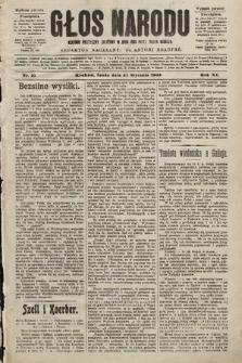 Głos Narodu : dziennik polityczny, założony w roku 1893 przez Józefa Rogosza (wydanie poranne). 1903, nr21