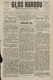 Głos Narodu : dziennik polityczny, założony w roku 1893 przez Józefa Rogosza (wydanie poranne). 1903, nr36
