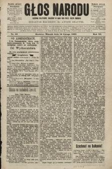Głos Narodu : dziennik polityczny, założony w roku 1893 przez Józefa Rogosza (wydanie poranne). 1903, nr40