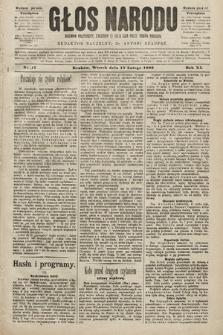 Głos Narodu : dziennik polityczny, założony w roku 1893 przez Józefa Rogosza (wydanie poranne). 1903, nr47