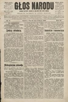 Głos Narodu : dziennik polityczny, założony w roku 1893 przez Józefa Rogosza (wydanie poranne). 1903, nr61