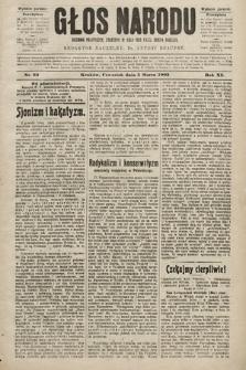 Głos Narodu : dziennik polityczny, założony w roku 1893 przez Józefa Rogosza (wydanie poranne). 1903, nr63