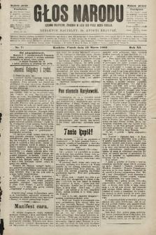 Głos Narodu : dziennik polityczny, założony w roku 1893 przez Józefa Rogosza (wydanie poranne). 1903, nr71