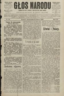 Głos Narodu : dziennik polityczny, założony w roku 1893 przez Józefa Rogosza (wydanie poranne). 1903, nr86