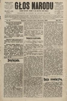 Głos Narodu : dziennik polityczny, założony w roku 1893 przez Józefa Rogosza (wydanie poranne). 1903, nr98