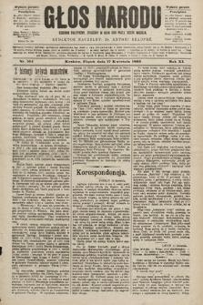 Głos Narodu : dziennik polityczny, założony w roku 1893 przez Józefa Rogosza (wydanie poranne). 1903, nr104