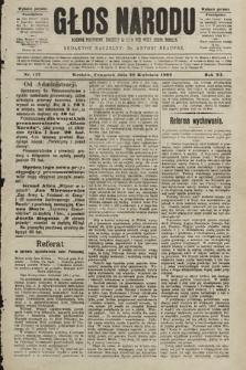 Głos Narodu : dziennik polityczny, założony w roku 1893 przez Józefa Rogosza (wydanie poranne). 1903, nr117