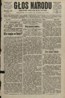 Głos Narodu : dziennik polityczny, założony w roku 1893 przez Józefa Rogosza (wydanie poranne). 1903, nr157