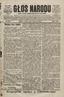 Głos Narodu : dziennik polityczny, założony w roku 1893 przez Józefa Rogosza (wydanie południowe). 1900, nr173
