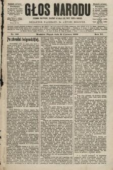 Głos Narodu : dziennik polityczny, założony w roku 1893 przez Józefa Rogosza (wydanie poranne). 1903, nr166