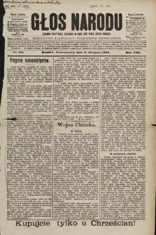 Głos Narodu : dziennik polityczny, założony w roku 1893 przez Józefa Rogosza (wydanie południowe). 1900, nr194 [skonfiskowany]