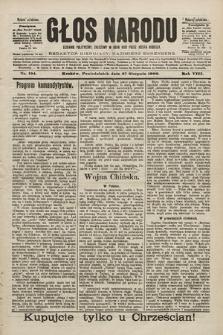 Głos Narodu : dziennik polityczny, założony w roku 1893 przez Józefa Rogosza (wydanie południowe). 1900, nr194 [ocenzurowany]