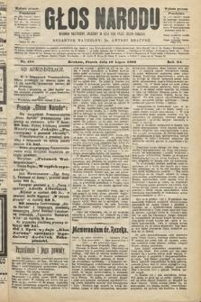 Głos Narodu : dziennik polityczny, założony w roku 1893 przez Józefa Rogosza (wydanie poranne). 1903, nr186
