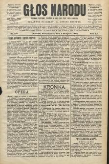 Głos Narodu : dziennik polityczny, założony w roku 1893 przez Józefa Rogosza (wydanie poranne). 1903, nr210