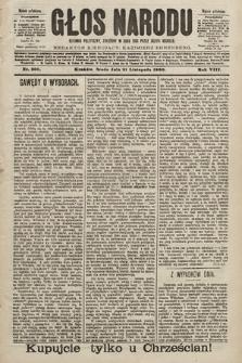 Głos Narodu : dziennik polityczny, założony w roku 1893 przez Józefa Rogosza (wydanie południowe). 1900, nr266