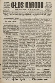 Głos Narodu : dziennik polityczny, założony w roku 1893 przez Józefa Rogosza (wydanie południowe). 1900, nr275