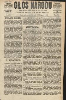 Głos Narodu : dziennik polityczny, założony w roku 1893 przez Józefa Rogosza (wydanie poranne). 1903, nr300