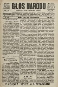 Głos Narodu : dziennik polityczny, założony w roku 1893 przez Józefa Rogosza (wydanie południowe). 1900, nr291