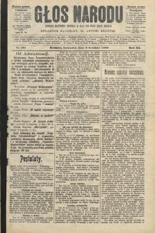 Głos Narodu : dziennik polityczny, założony w roku 1893 przez Józefa Rogosza (wydanie poranne). 1903, nr331