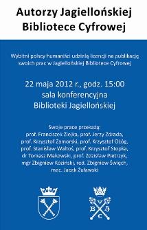 Autorzy Jagiellońskiej Bibliotece Cyfrowej