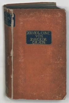 XII Viol. Conc. Rękopis muzyczny