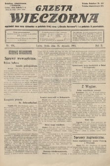Gazeta Wieczorna. 1912, nr494