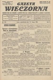 Gazeta Wieczorna. 1912, nr537
