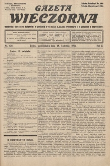 Gazeta Wieczorna. 1912, nr630