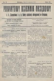 Powiatowy Dziennik Urzędowy c.k. Starostwa i c.k. Rady szkolnej okręgowej wKrośnie. 1912, nr2