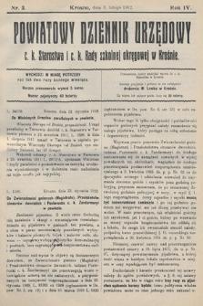 Powiatowy Dziennik Urzędowy c.k. Starostwa i c.k. Rady szkolnej okręgowej wKrośnie. 1912, nr3