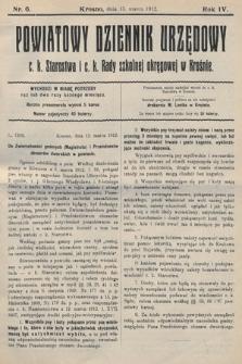 Powiatowy Dziennik Urzędowy c.k. Starostwa i c.k. Rady szkolnej okręgowej wKrośnie. 1912, nr6