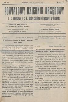 Powiatowy Dziennik Urzędowy c.k. Starostwa i c.k. Rady szkolnej okręgowej wKrośnie. 1912, nr11