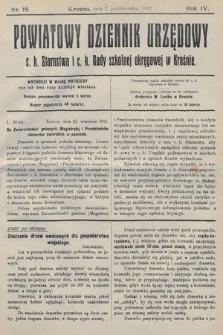 Powiatowy Dziennik Urzędowy c.k. Starostwa i c.k. Rady szkolnej okręgowej wKrośnie. 1912, nr18