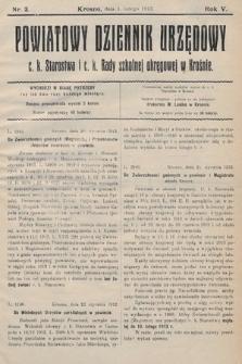 Powiatowy Dziennik Urzędowy c.k. Starostwa i c.k. Rady szkolnej okręgowej wKrośnie. 1913, nr3