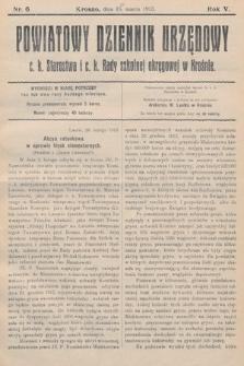 Powiatowy Dziennik Urzędowy c.k. Starostwa i c.k. Rady szkolnej okręgowej wKrośnie. 1913, nr6