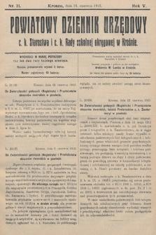 Powiatowy Dziennik Urzędowy c.k. Starostwa i c.k. Rady szkolnej okręgowej wKrośnie. 1913, nr11