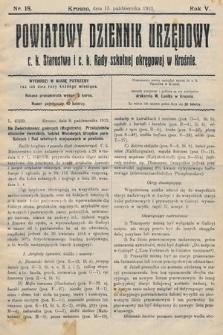 Powiatowy Dziennik Urzędowy c.k. Starostwa i c.k. Rady szkolnej okręgowej wKrośnie. 1913, nr18