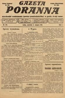 Gazeta Poranna. 1911, nr211