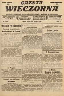 Gazeta Wieczorna. 1911, nr243