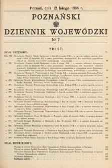 Poznański Dziennik Wojewódzki. 1938, nr7