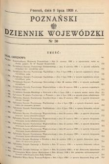 Poznański Dziennik Wojewódzki. 1938, nr30