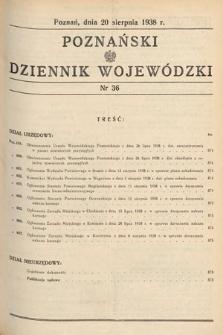 Poznański Dziennik Wojewódzki. 1938, nr36