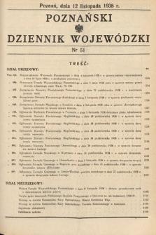 Poznański Dziennik Wojewódzki. 1938, nr51
