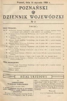 Poznański Dziennik Wojewódzki. 1939, nr2