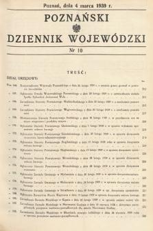 Poznański Dziennik Wojewódzki. 1939, nr10